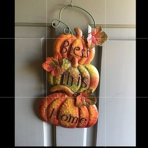🍁BLESS THIS HOME-Fall Metal Door/Wall hanger